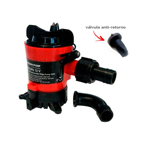 BOMBA DE PORAO 12V 500GPH JOHNSON PUMP